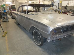 1960 Chevy Bel Air down to bare metal