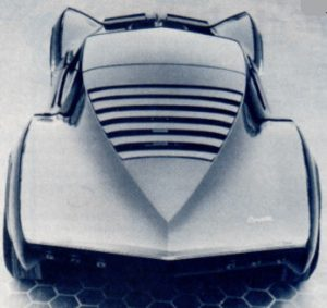 Top, rear view of the Mako Shark II