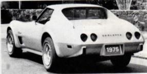 1975 L-82 Chevrolet Corvette, rear view
