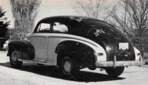 Chevrolet Aerosedan WWII Blackout from rear