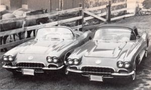 Two 1958 Chevy Corvettes