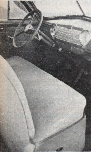 Interior of the 1941 Chevy Business Coupe