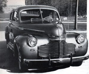 View of the '41 Chevy frontend