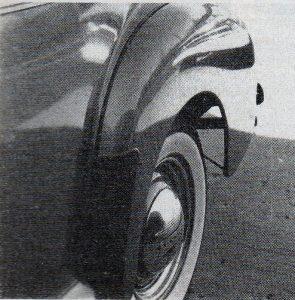 '41 Chevy rear fender rubber gravel guards